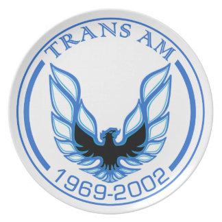 Placa de griterío azul 1969 -2002 de Eagle Plato De Comida