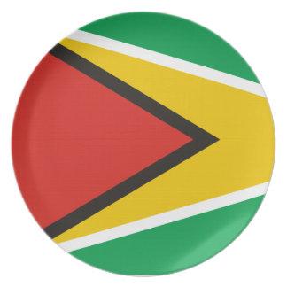Placa de Guyana Plato Para Fiesta