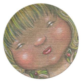 Placa de hadas principal soñolienta del alcohol de platos de comidas