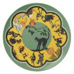 placa de Halloween del vintage de los años 20 Platos