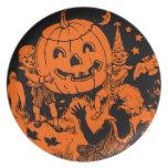Placa de Halloween del vintage Plato Para Fiesta