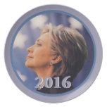 Placa de Hillary 2016 Plato De Cena
