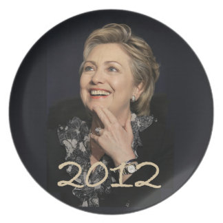 Placa de Hillary Clinton 2012 Platos