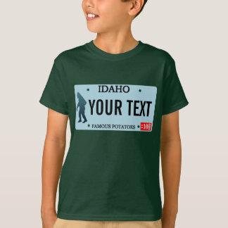 Placa de Idaho Sasquatch Playera