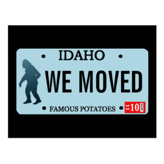 Placa de Idaho Sasquatch Tarjeta Postal