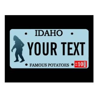 Placa de Idaho Sasquatch Tarjetas Postales