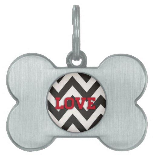 Placa de identificación - amor adolescente placas de mascota