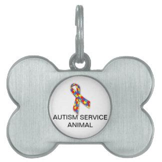 Placa de identificación animal del servicio del au placas de nombre de mascota