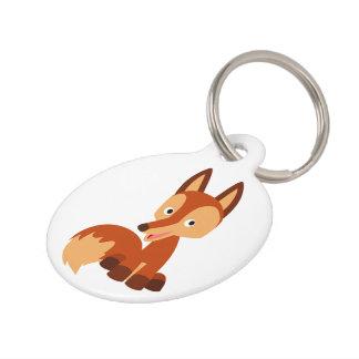 Placa de identificación astuta linda del Fox del d Identificador Para Mascotas