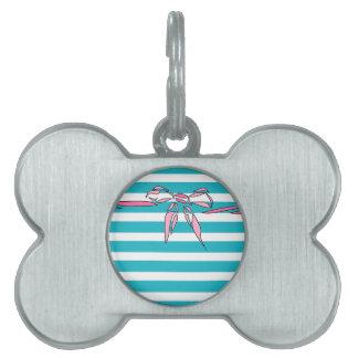 Placa de identificación blanca del diseño del arco placas mascota