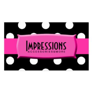 Placa de identificación blanco y negro de las rosa plantillas de tarjetas personales