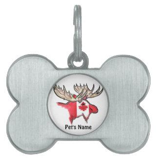 Placa de identificación canadiense adaptable del h placas de nombre de mascota