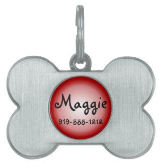 Placa de identificación conocida adaptable formada placas mascota