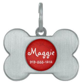 Placa de identificación conocida adaptable formada placas de mascota
