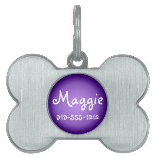 Placa de identificación conocida adaptable formada placas de nombre de mascota