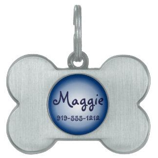 Placa de identificación conocida adaptable formada placa mascota