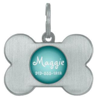 Placa de identificación conocida adaptable formada placa de mascota