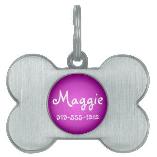 Placa de identificación conocida adaptable formada placa de nombre de mascota