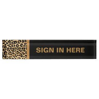 Placa de identificación de encargo del escritorio