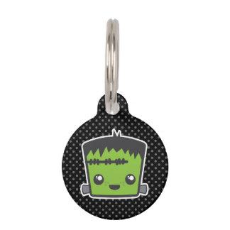Placa de identificación de Kawaii Frankenstein Placas Para Mascotas