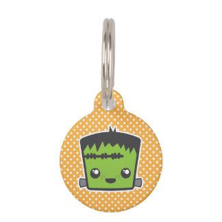 Placa de identificación de Kawaii Frankenstein Placa De Mascota