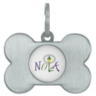 Placa de identificación de NOLA Placas Mascota