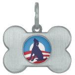 Placa de identificación de Obama de la corteza Placas Mascota