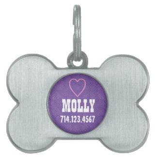 Placa de identificación de plata conocida de encar placas de nombre de mascota