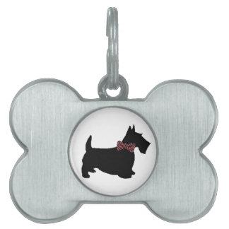 Placa de identificación del escocés placa de nombre de mascota