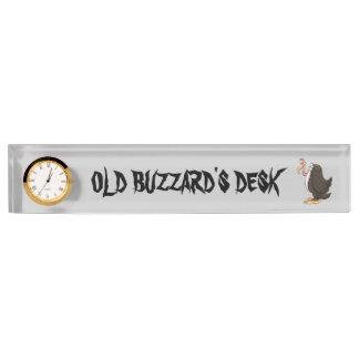 Placa de identificación del escritorio del halcón
