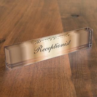 Placa de identificación elegante del escritorio