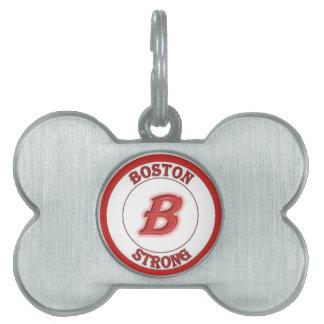 Placa de identificación fuerte de Boston Placas De Mascota