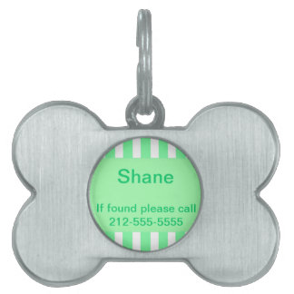 Placa de identificación rayada verde