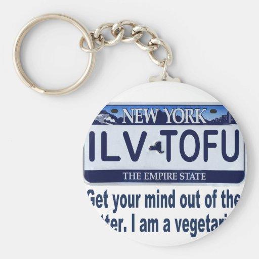 Placa de ILVTOFU Nueva York Llavero Personalizado
