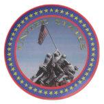 Placa de Iwo Jima Platos