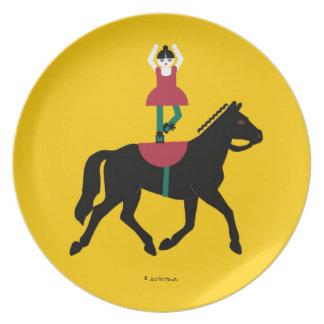 Placa de jinete trasera de Cirque de Martzkins Bar Plato De Cena