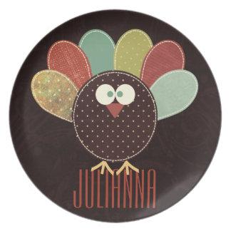Placa de la acción de gracias de Turquía |Custom Platos Para Fiestas