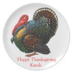 Placa de la acción de gracias de Turquía Platos Para Fiestas