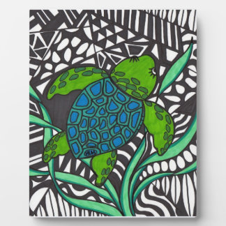 Placa de la alga marina de la tortuga de mar de Ho