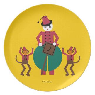 Placa de la amoladora de órgano de Cirque de Martz Platos Para Fiestas