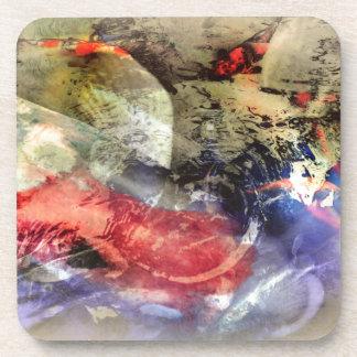 Placa de la antigüedad del extracto del estanque posavasos