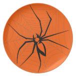 Placa de la araña de Halloween Platos
