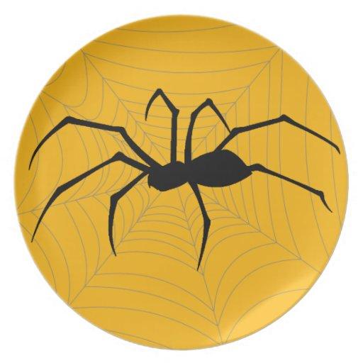 Placa de la araña de Halloween Platos Para Fiestas