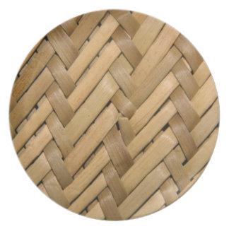 Placa de la armadura de cesta plato de cena