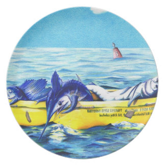 Placa de la balsa salvavidas del estilo de Hattera Platos Para Fiestas