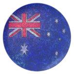 Placa de la BANDERA de AUSTRALIA Plato Para Fiesta