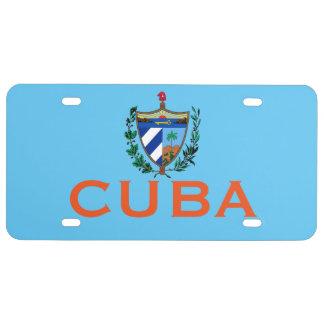 Placa de la bandera de Cuba Placa De Matrícula