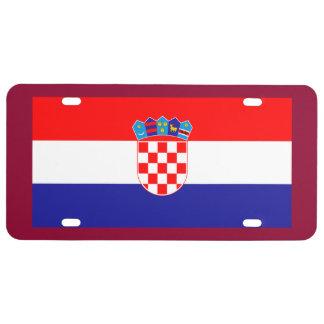 Placa de la bandera de Eslovenia Placa De Matrícula