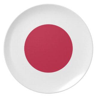 Placa de la bandera de Japón Platos