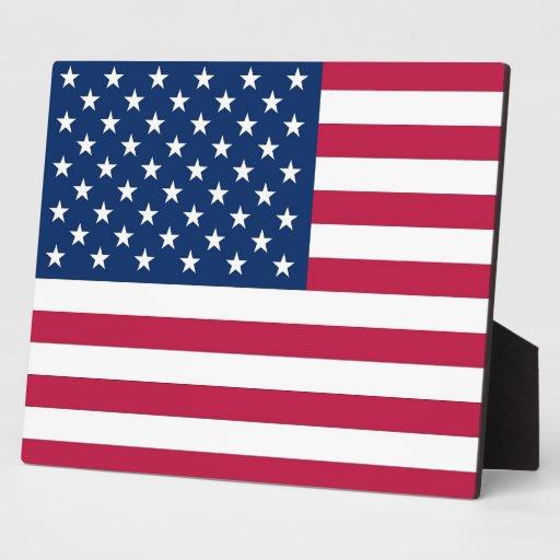 Placa de la bandera de los E.E.U.U.